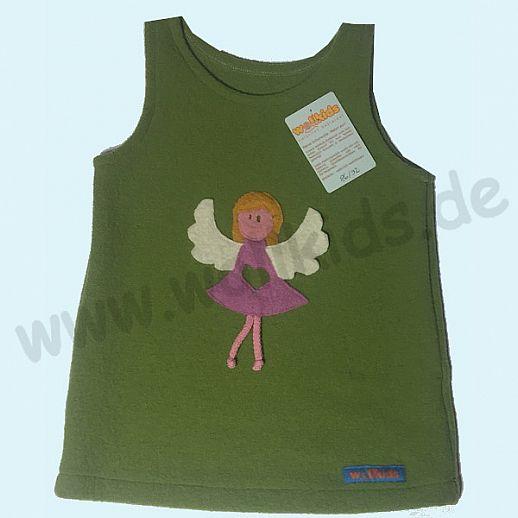 Walk-Kleid Sondermodell Kleid apfel grün 86/92 Engel Schutzengel - zuckersüß - Reine Schurwolle