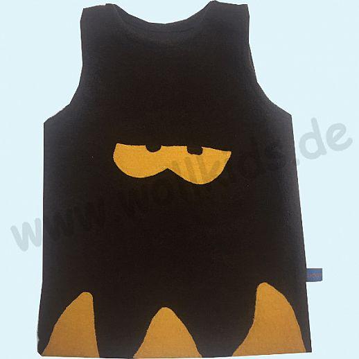 Sondermodell: Walk-Kleid schoko Monster gelb - bezaubernd schön - Reine Schurwolle 74 80