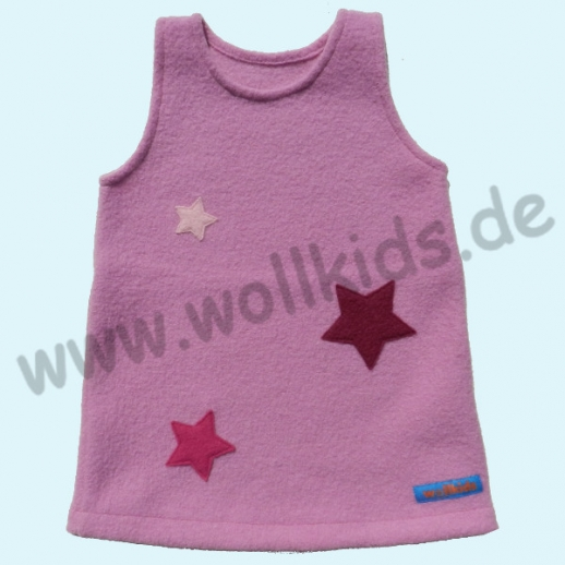 Sondermodell: Walkkleid Ökowalk Kleid Hängerchen Sterne rosa