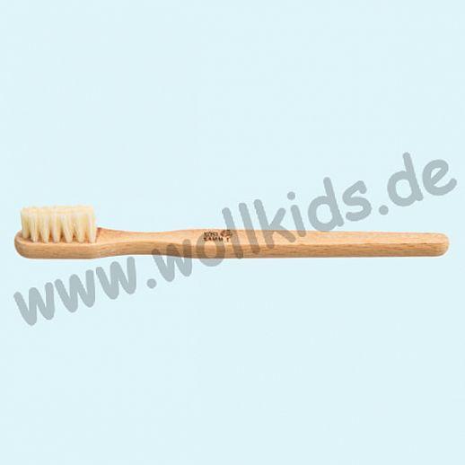 KOSTKAMM: Zahnbürste, Buche, mittelharte Borste für Kinder und Erwachsene, 14cm