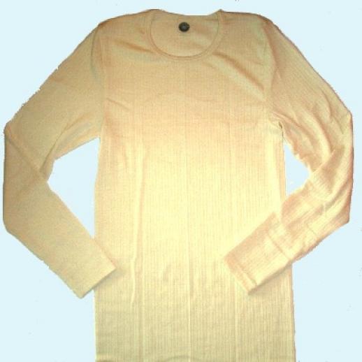 LA-Unterhemd - Seide/Wolle-Baumw. - natur
