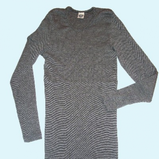 LA-Unterhemd - Seide/Wolle-Baumw. schwarz