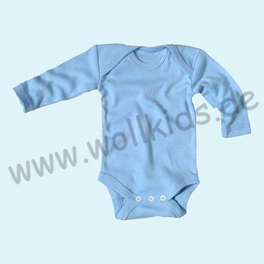 NEU: Babybody Body - Langarm hellblau - BIO Baumwolle