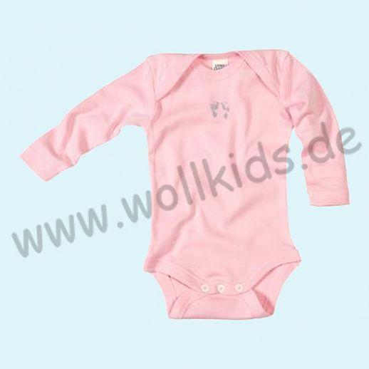 NEU: Babybody Body - Langarm rosa mit Print-Motiv - BIO Baumwolle