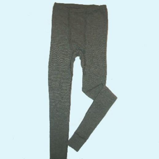 Lange Unterhose - Seide/Wolle-Baumw. schw.