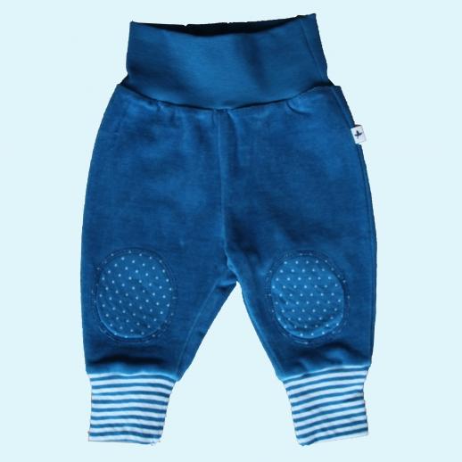 LEELA COTTON: BIO Baumwolle Baby Hose Nicky - Nickyhose blau saphir NEU
