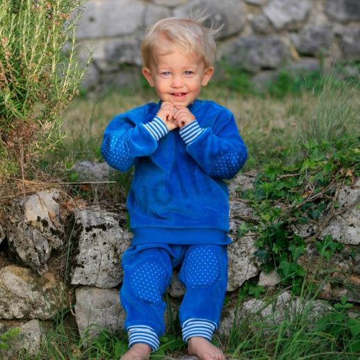 LEELA COTTON: BIO Baumwolle Pullover Nicky Pulli Shirt Sweatshirt blau saphir NEU