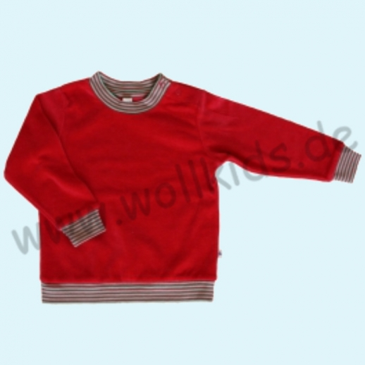 LEELA COTTON: BIO Baumwolle Pullover Nicky Pulli Shirt Sweatshirt rot NEU