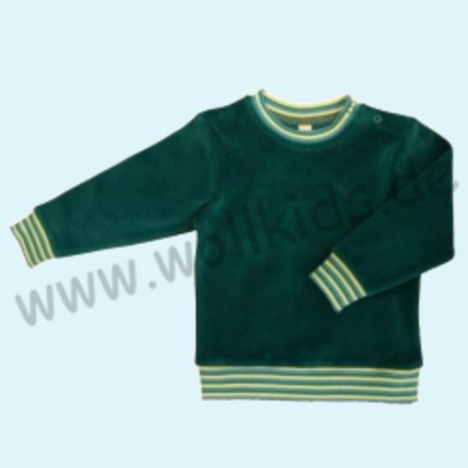 LEELA COTTON: BIO Baumwolle Pullover Nicky Pulli Shirt Sweatshirt smaragd = petrol NEU