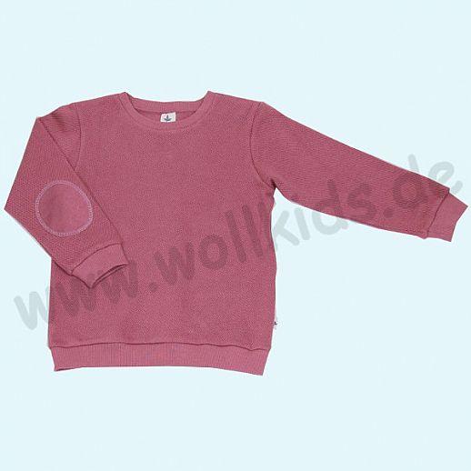 LEELA COTTON: BIO Baumwolle Pullover Sweatshirt Piqué beere Pulli NEU