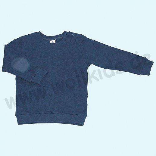 LEELA COTTON: BIO Baumwolle Pullover Sweatshirt Piqué indigo Pulli NEU