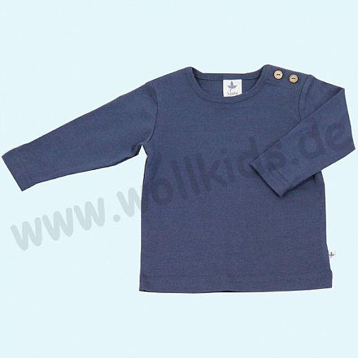 BIO BAUMWOLLE Leela Cotton Langarm T-Shirts kbA BW Uni Langarm Shirt BASIC indigo blau