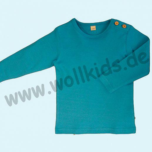 BIO BAUMWOLLE Leela Cotton Langarm T-Shirts kbA BW Uni Langarm Shirt BASIC ozeanblau