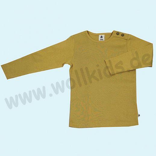 BIO BAUMWOLLE Leela Cotton Langarm T-Shirts kbA BW Uni Langarm Shirt BASIC ocker