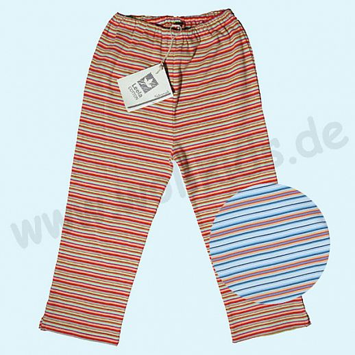 BIO Baumwolle Leela Cotton Baby & Kinder Leggin 7/8 Länge Meeresringel