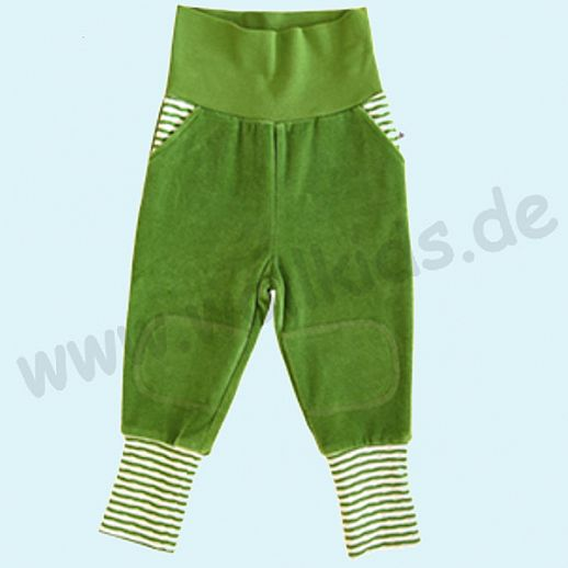 LEELA COTTON: BIO Baumwolle Baby Hose Nicky - Nickyhose waldgrün NEU