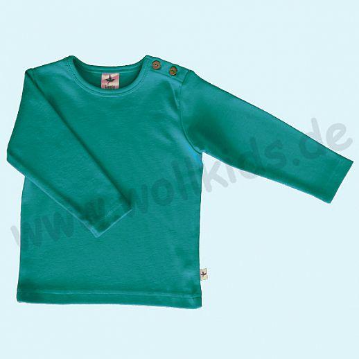 BIO BAUMWOLLE Leela Cotton Langarm T-Shirts kbA BW Uni Langarm Shirt BASIC lapis türkis