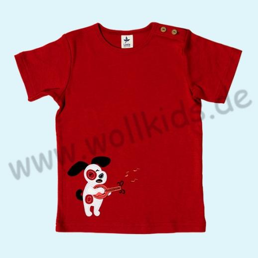 BIO Leela Cotton Kurzarm T-Shirts kbA Baumwolle Organic ziegelrot Hund