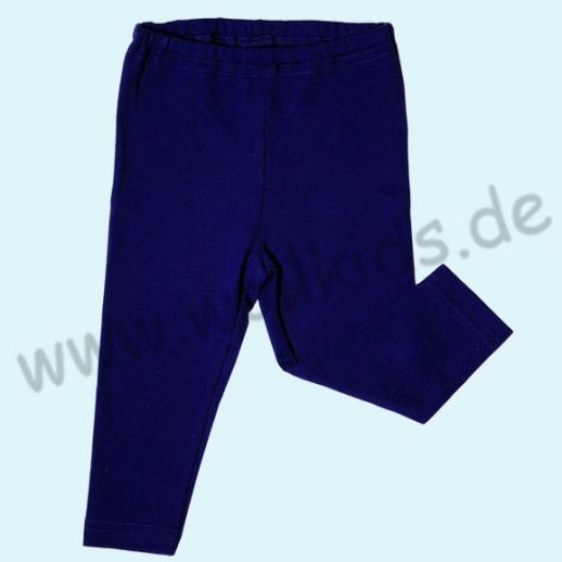 BIO Baumwolle Leela Cotton Baby & Kinder Leggin dunkelblau