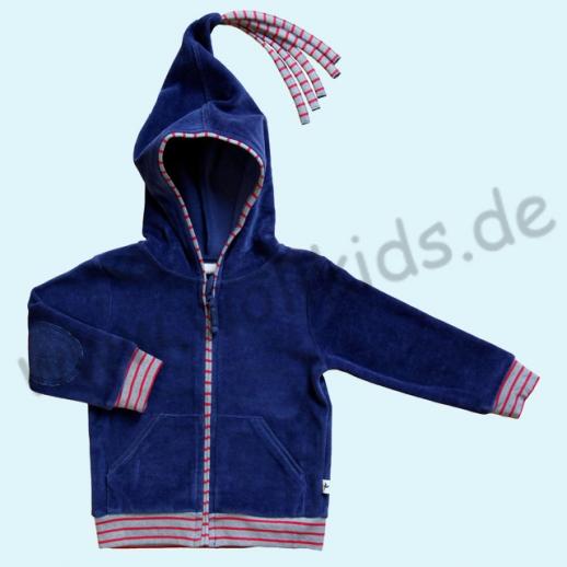 Leela Cotton Nicky Zipfelkapuzenjacke Bio Baumwolle dunkelblau kbA Jacke