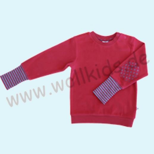 LEELA COTTON: BIO Baumwolle Pullover Nicky Pulli persisch rot - himbeer NEU