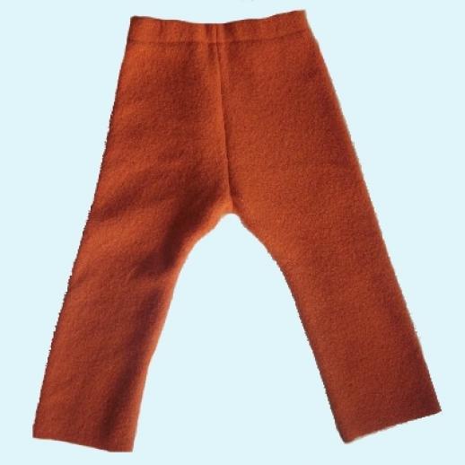 Leggin / Longie orange Öko-Walk - Schurwolle