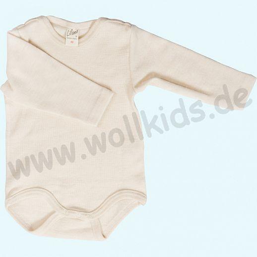 Lilano - Baby Body - Babybody - Wolle-Seide natur - extra kuschelig & warm