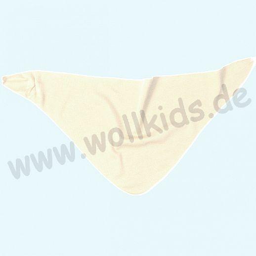 Genial: Lilano - Halstuch - Dreieck-Tuch - Dreieckstuch - Wolle Seide - natur