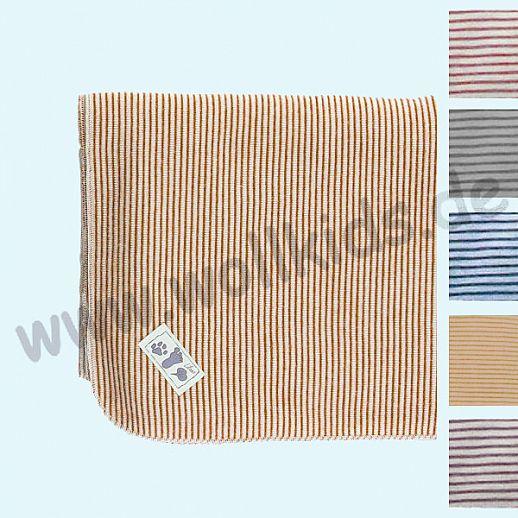 Genial: Lilano - Wickeldecke - Decke - Puckdecke - Wolle Seide - viele Farben Ringel