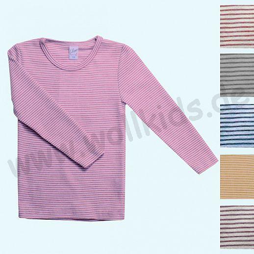 LILANO: Wunderschönes Kinder- Shirt - Pulli  Ringelshirt - Wolle-Seide - extra warm und kuschelig