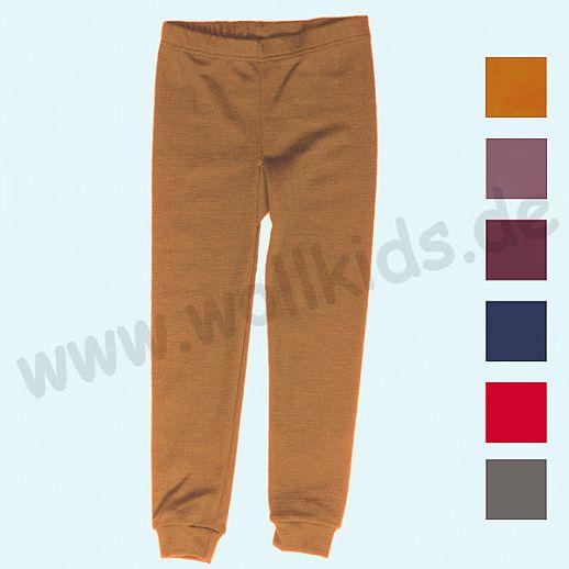 LILANO: Wunderschöne Kinder-Leggin - lange Unterhose - Wolle-Seide uni - extra warm und kuschelig