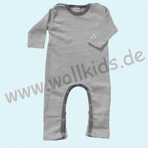 309ae44c1e9eaa LILANO  neu auch in hellgrau - Baby Body Overall Wolle Seide Ringel ohne Fuß