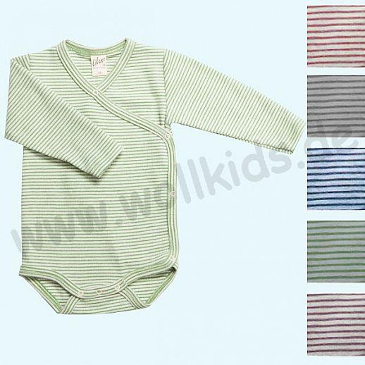 Lilano - Wickelbody - Babybody - Wolle-Seide Ringel - extra kuschelig & warm