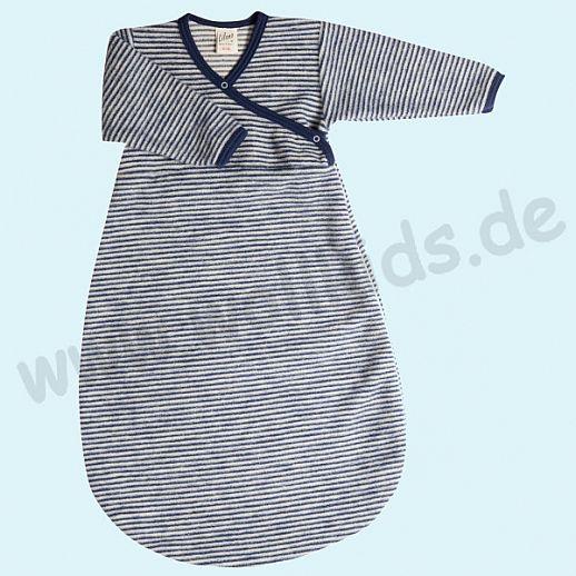 kbT Lilano 100/% Wollfrottee Flausch Schlafstrampler Schlafsack Mit Arm