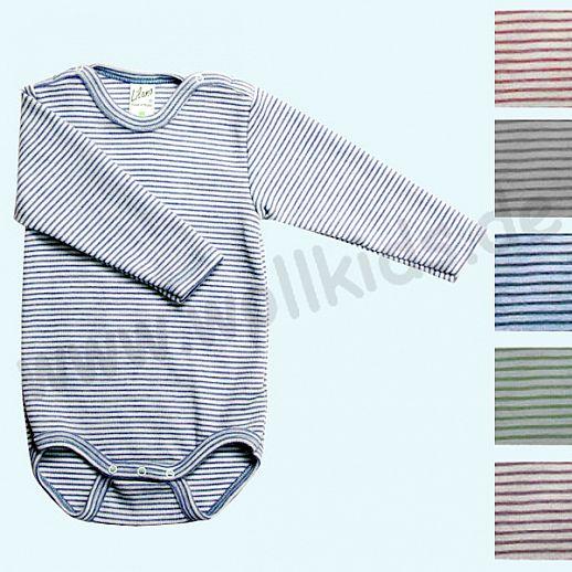 Lilano - Baby Body - Babybody - Wolle-Seide Ringel - extra kuschelig & warm
