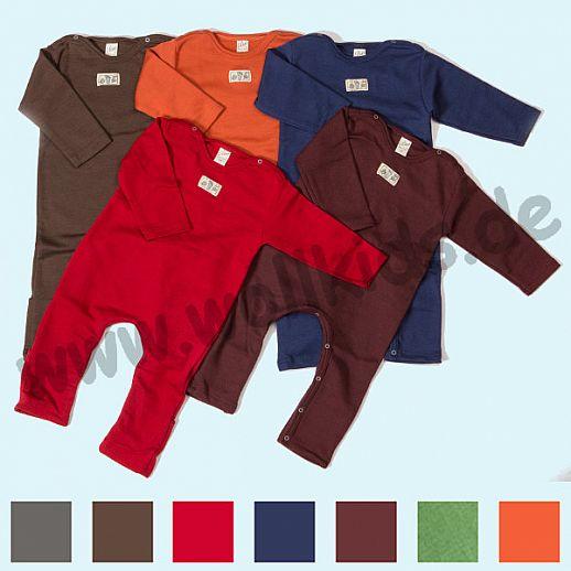 LILANO: neu auch in hellgrau - Baby Body Overall Wolle Seide Uni ohne Fu