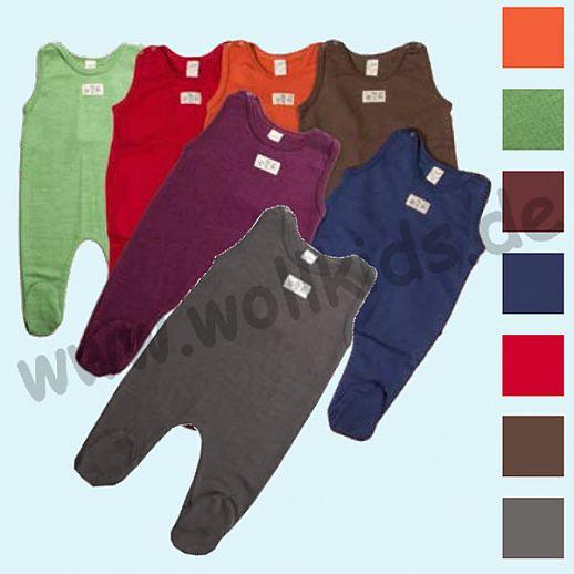 Traumhaft: Lilano - Strampler - Strampelanzug mit Fuß - Wolle Seide viele Farben