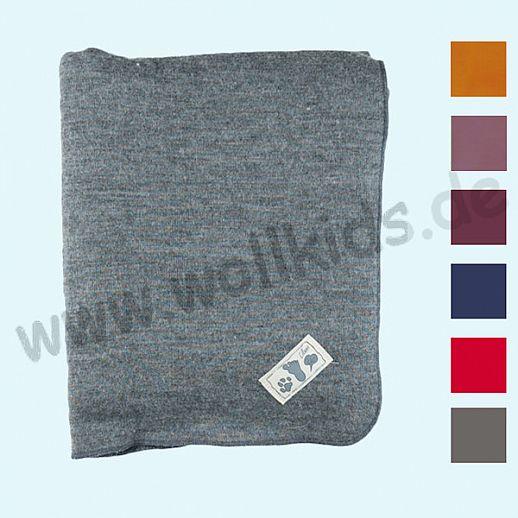 Genial: Lilano - Wickeldecke - Decke - Puckdecke - Wolle Seide - viele Farben uni