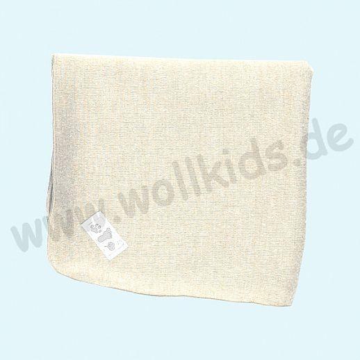 Genial: Lilano - Wickeldecke - Decke - Puckdecke - Wolle Seide - natur
