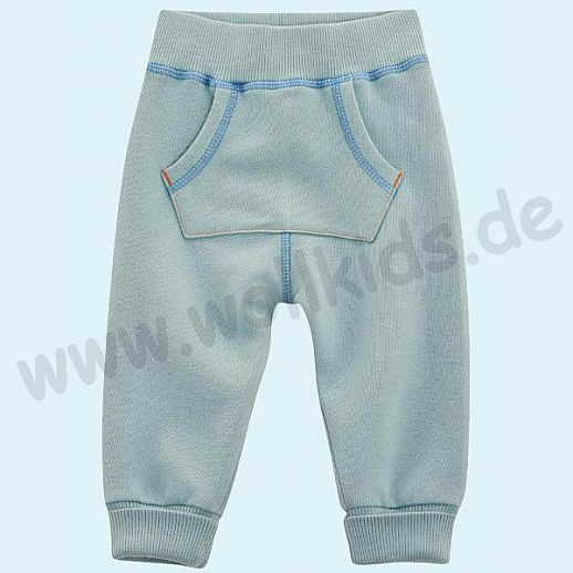 NEU: Babyhose Sweat Hose - super kuschelig bleu - BIO Baumwolle zum Body Set