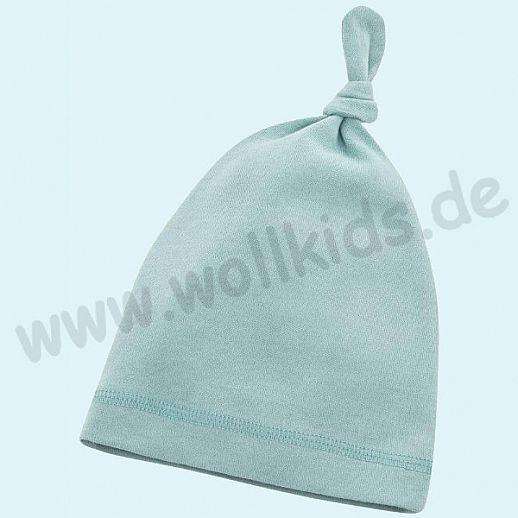 NEU: Baby Mütze - Beanie - super kuschelig bleu - BIO Baumwolle zum Body Set