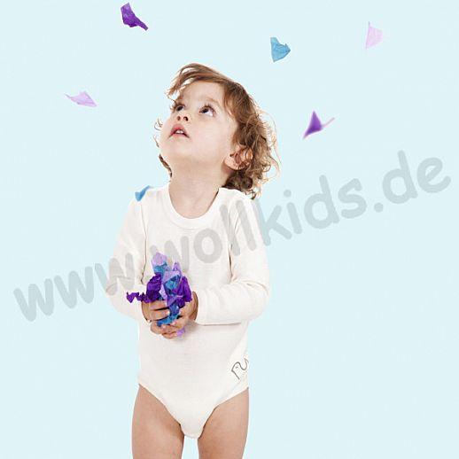NEU: Babybody Body - Langarm natur - BIO Baumwolle mit Schulterverschluß