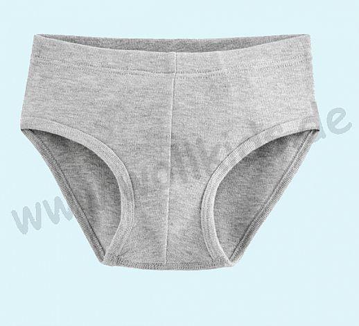 NEU: Jungenslip Slip Unterhose - grau meliert - BIO Baumwolle GOTS