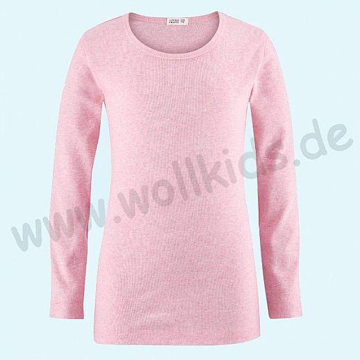 NEU: Livingcrafts Langarm Shirt - LA Hemd - rose meliert - BIO Baumwolle GOTS