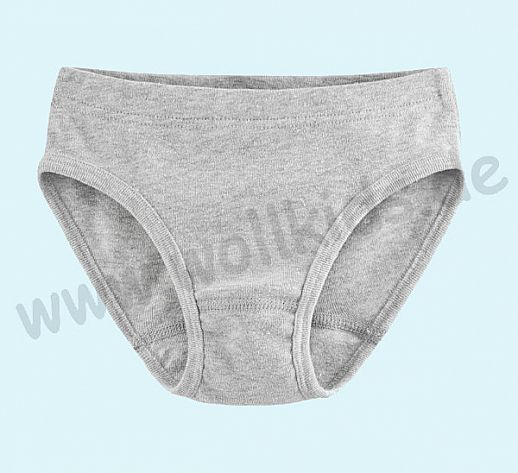 NEU: Kinderslip Slip Unterhose - grau meliert - BIO Baumwolle GOTS