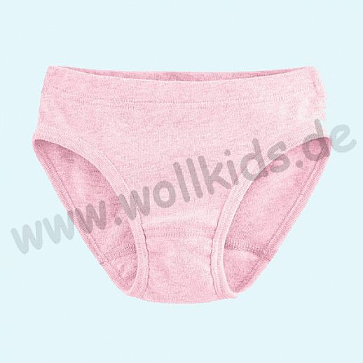 NEU: Kinderslip Slip Unterhose - rosa meliert - BIO Baumwolle GOTS