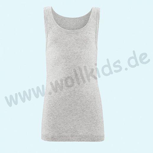 NEU: Livingcrafts Trägerhemd - Achselhemd - Hemd - Unterhemd - grau meliert - BIO Baumwolle GOTS