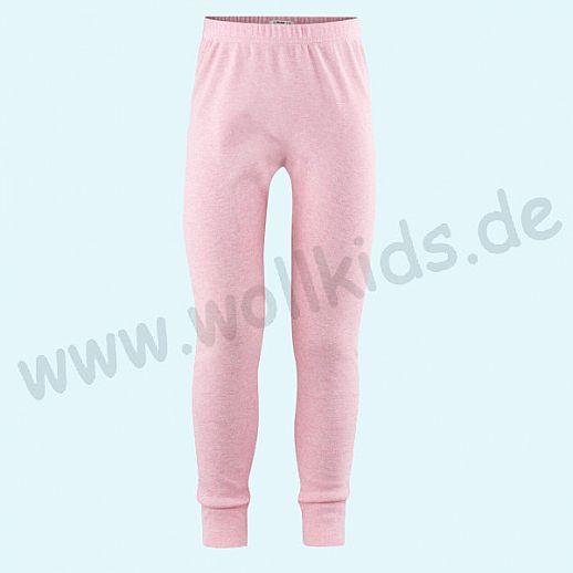 NEU: Lange Kinder Unterhose Leggin - rosa meliert - BIO Baumwolle GOTS