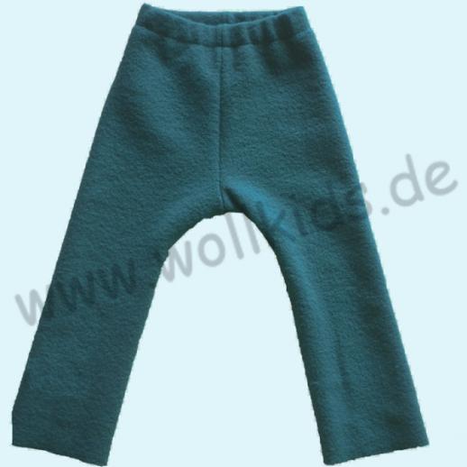 NEU: Leggin / Longie dunkelpetrol Öko-Walk - Schurwolle - fester gewalkt