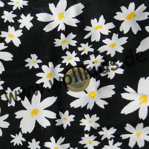 Interlock - Baumwolle - schwarz Mageriten - Top Qualität